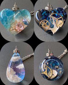 Kawaii Accessories, Kawaii Jewelry, Cute Jewelry, Jewelry Accessories, Objet Wtf, Accesorios Casual, Diy Resin Crafts, Resin Jewelry Making, Magical Jewelry