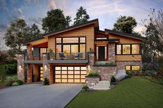 Contemporary Style Homes, Contemporary House Plans, Modern Style Homes, Contemporary Bedroom, Midcentury Modern House Plans, Modern Home Plans, Modern Home Exteriors, Modern Wood House, Contemporary Design