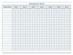 Cute Attendance Sheet Template Teachers Sheets Pictures   Pinteres