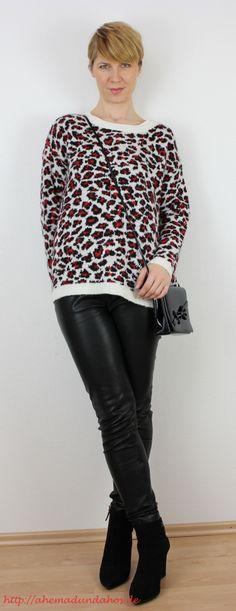 Redleo und black leather #leather #leder #mango http://ahemadundahos.de