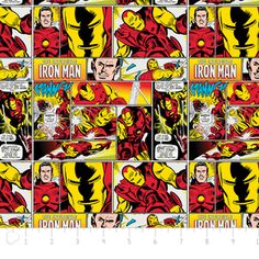 Camelot Cottons House Designer - Marvel Comic II - Iron Man in Multi