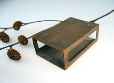 Antique Arts and Crafts Bronze match box holder.