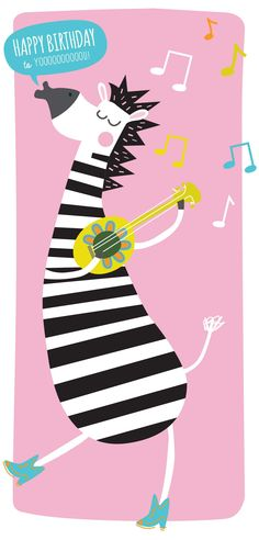 happy birthday zebra! a birthday card I designed for stuff from africa  #africa illustration #zebra illustration #birthday illustration  www.karenvermeulen.com
