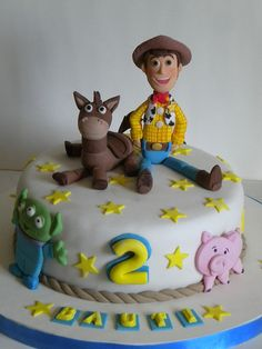 Toy Story Cake for when he turns perfect size for just us too ; Woody Birthday, Harry Birthday, Toy Story Birthday, Toy Story Party, Birthday Cakes, Birthday Ideas, Bolo Toy Story, Toy Story Cakes, Woody Cake