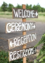 Cute wooden sign at a rustic wedding! Photo by Aaron Snow Photography. #wedding #sign #rustic