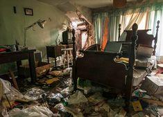 La maison d'un cadet de la Marine abandonnée et détruite. (Pennsylvanie)