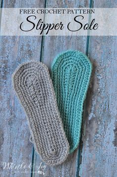 Free Crochet Pattern: Women's Slipper Sole | Use your imagination and create your own designs by working off this crochet slipper sole for women!