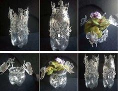 Plastic Bottle Art by Erica Gadd! I love this!