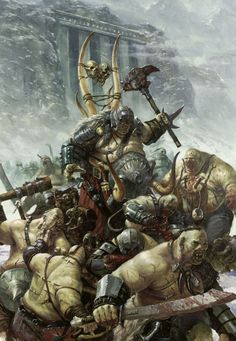 #ogres #fantasy Paint Hammer: 3200pts YuleHammer Smash Up Game