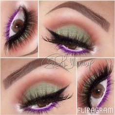 Colorful makeup @ makeupbyriz