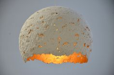 Recycled paper handmade lamp from www.facebook.com/7LAMPI