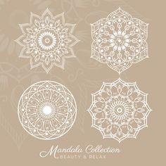 Mandala projeta a coleção Vetor grátis
