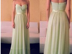 Sweetheart Chiffon Prom Dresses,Strapless Prom Dresses,Knotted Front Prom Dresses,Long Bridesmaid Dresses,Evening Dresses