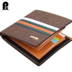 2016 nuevo diseñador hombres billetera de cuero carteras de lujo marca embrague monedero Marrón de cuero clip del dinero de los hombres monedero de la cartera hombre cuzdan