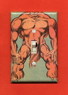 Superhero Light Switch Plate  Sasquatch by IntergalacticDesign, $14.95
