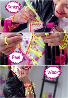 Make customized bracelets to wear and share using the Gel-a-Peel 3D Design station!