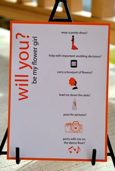 Flower girl - WIll you be my Flower girl - wedding party cards. $15.00, via Etsy.