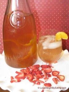 Strawberry and Tangerine Fruit Infused Water | Lose Weight By Eating