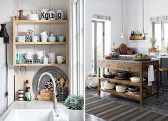 Rangement ouvert cuisine inspiration déco top image