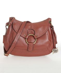 This Whiskey Waitsburg Leather Crossbody Bag is perfect! #zulilyfinds