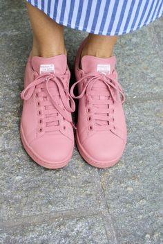 Pink Adidas Stan Smith sneakers by Raf Simons