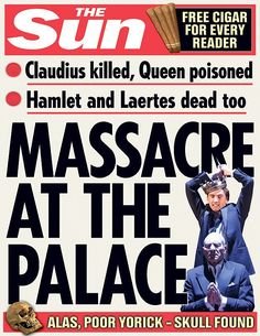 Hamlet. | 10 Shakespeare Plays As Sun Front Covers
