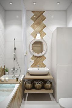 Adorable Wooden Bathroom Design Ideas For You - Ranges of freestanding, solid wood bathroom furniture, such as those produced by Mito, give a bathroom a look of high end luxury that's hard to beat. Modern Bathroom Design, Bathroom Interior Design, Bathroom Designs, Contemporary Bathrooms, Bath Design, Tile Design, Kitchen Designs, 3d Design, Interior Ideas