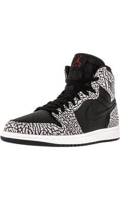 Nike Jordan Men's Air Jordan 1 Retro High Black/Gym Red/Cmnt Grey/