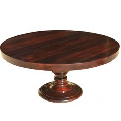 A round dining table invites everyone to gather as an equal group. Colonial American Solid Wood Pedestal Round Dining Table is set on a round base with a. Large Round Dining Table, Wooden Dining Tables, Dining Table Design, Round Coffee Table, Dining Room Table, Wood Pedestal, Wall Accessories, Leaf Table, Of Wallpaper