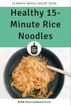These Healthy 15-Minute Rice Noddles are perfect for a quick weeknight meal. In only 15 minutes and using a handful of ingredients, you can have a delicious meal on the table. Minimal effort required! #healthyrecipe #recipes #healthydinner #easydinner #lazyrecipe #quickmeal Healthy Weeknight Dinners, Healthy Pasta Recipes, Healthy Pastas, Vegetarian Recipes Dinner, Quick Meals, 15 Minute Meals, How To Cook Eggs, Nutrition Tips, Meal Ideas