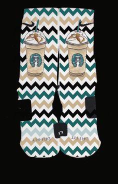 Image of Starbucks Mocha Color Inspired Custom Nike Elites