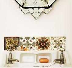 eclectic bathroom tiles