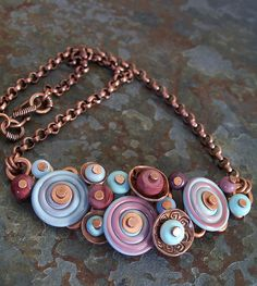 Lampwork Button Necklace