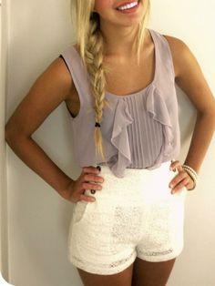 Cute sheer sleeveless top.