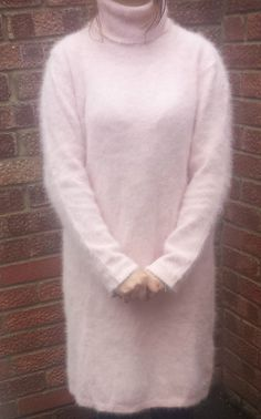 River Island Soft and Fluffy Angora Bright Pink Jumper With Slash ...