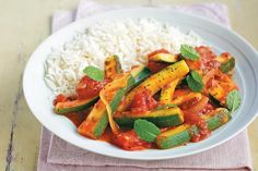 Lebanese tomato and courgette curry. Photographed by Will Heap