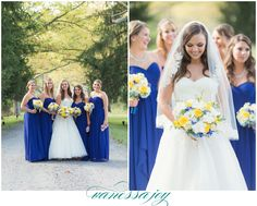 Jessica wore a beautiful gown by @annebarge and her bridesmaids stood by her in Bill Levkoff - see more on my blog!