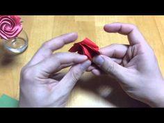 達人折りのバラの折り紙27 Only one origami rose27 - YouTube