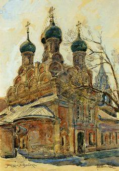 Церковь Николы в Пыжах. 1670-1672 гг. Рисунок 1947 г..jpg