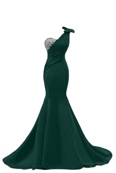 Sunvary Sexy Mermaid Prom Gowns for Pageant Formal Dresses Long US Size 18W- Dark Green