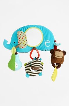 Free shipping and returns on Skip Hop 'Alphabet Zoo' Stroller Bar Toy at Nordstrom.com. A plush activity center sports an assortment of engaging textures, colors and sounds for your little one to explore. The convenient hook-and-loop closure easily attaches to your stroller for on-the-go play.