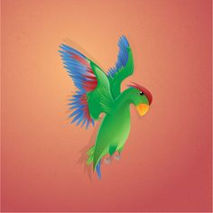 Parrot Parrot, Rooster, Illustrations, Animals, Parrot Bird, Animales, Animaux, Illustration, Illustrators