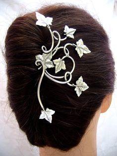 Epingle feuilles de lierre – Elemiah Delecto, bijoux de cheveux artisanaux, accessoires coiffure chignon mariage