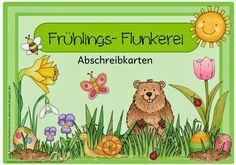 """8 Abschreibkarten """"Frühlings- Flunkerei""""    Endlich fertig sind nun die acht neuen Abschreibkarten  mit """"Frühlingsflunkersätzen"""", die berei..."""