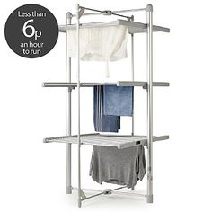 Dry:Soon 3-Tier Heated Tower Airer - from Lakeland