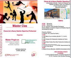 "#MasterGestionDeportivaUs  #MasterClass, 26/10/16, 16:30: ""CLAVES NUEVA GESTIÓN DEPORTIVA PROFESIONAL"". Te lo vas a perder?  @unisevilla @CFP_unisevilla @ftfsevilla"