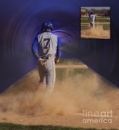 Before and After Sample Art 24, Pop Slide At Third Base.    I hope you enjoy these moments in time that have been captured.    Stop by and check out some of my other Galleries on Fine Art America. Just simply search for Artist Thomas Woolworth.