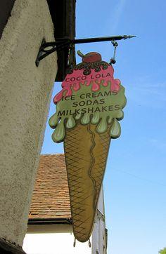 Ice cream sign ...