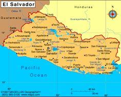 Where Is El Salvador El Salvador Map El Salvador Satellite Image