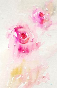 Norway Workshops 2010. A demonstration on how to paint roses in a loose style. /  by Jean Haines Watercolours